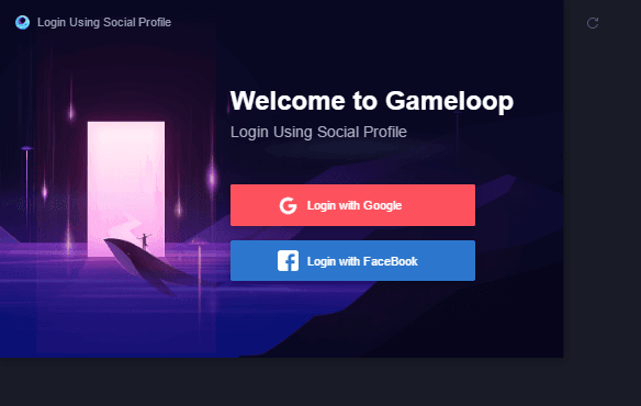 Social Signin Gameloop with Facebook or Google Account