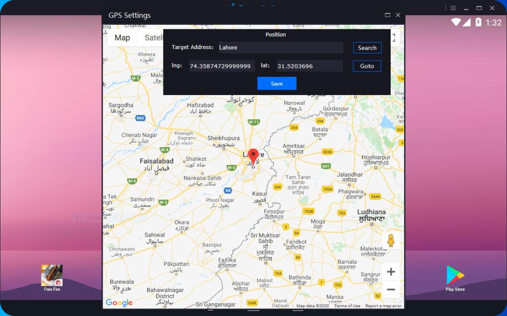 GPS Position settings