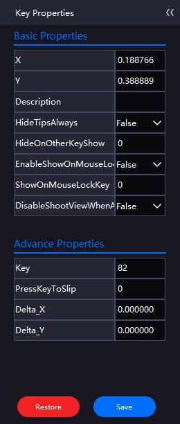 Simple keys advanced properties