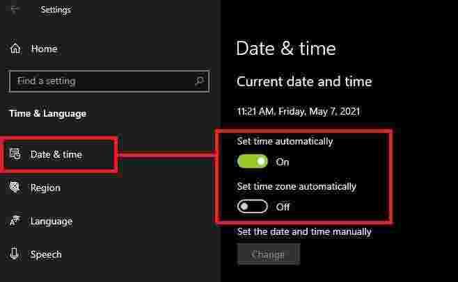 Date and time settings to fix bluescreen error in Smart GaGa emulator