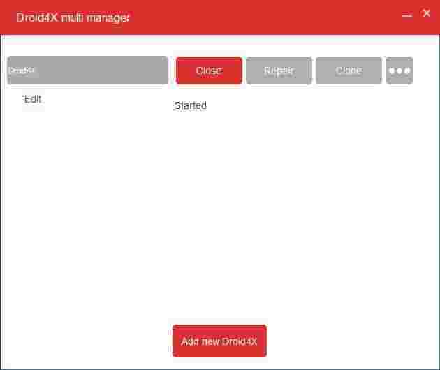 Droid4X Multi Manager