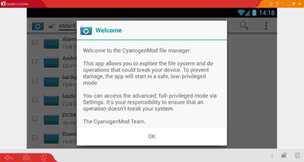 File Manager from CyanogenMod