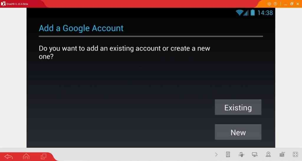 app store in Droid4X emulator